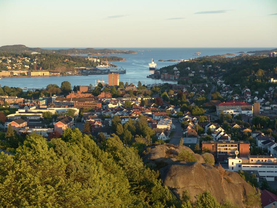 Sandefjord from Mokollen