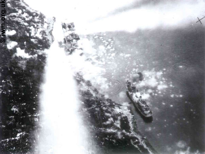 Beaufighters attack two vessels in Vindspol fjord